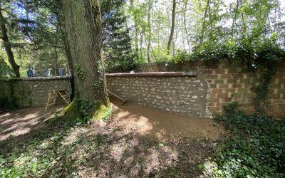 Reprise mur de pierre
